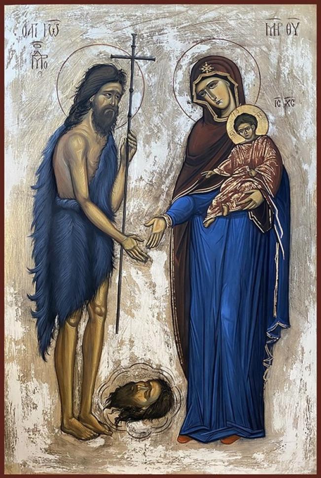 Sfantul Ioan Botezatorul si Maica Domnului cu Pruncul - Alexandru Popa