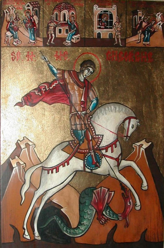 Sf. M. Mc. Gheorghe cu scene din viaţa sa - Claudiu Victor Gheorghiu